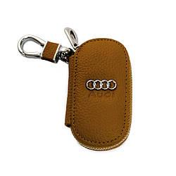 Ключница Carss с логотипом AUDI 01001 коричневая