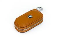 Ключница Carss с логотипом BMW 12001 коричневая
