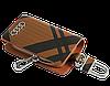 Ключница Carss с логотипом AUDI 01014 карбон коричневый, фото 3