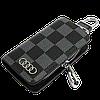 Ключниця Carss з логотипом AUDI 01013 карбон сірий, фото 2
