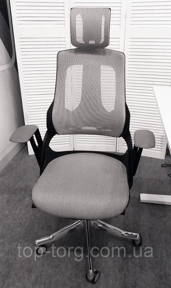 Кресло компьютерное WAU SNOWY NETWORK, цвет серый