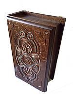 Ключница деревянная резьбленная(резная,рубленая) с гвоздиками  25*13*13