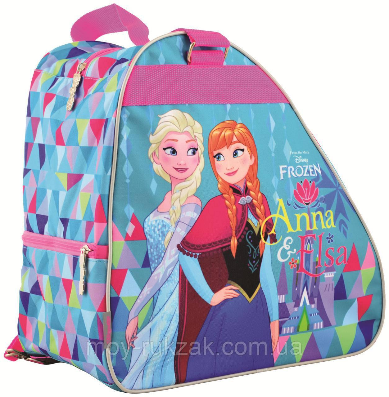 """Рюкзак - сумка для коньков """"1 Вересня"""" Frozen, 555352"""