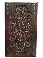 Ключница деревянная резьбленная (резная,рубленая)с бисером 25*13*13, фото 1
