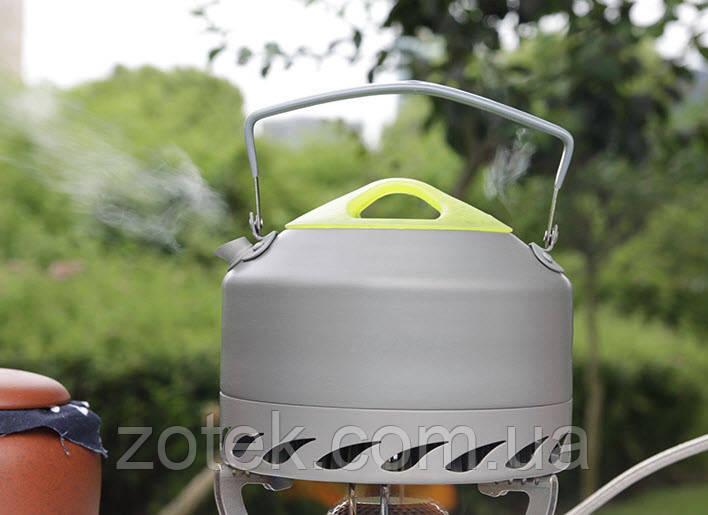 Чайник с теплообменником 0,9 ALOCS CW-K07 туристический походный