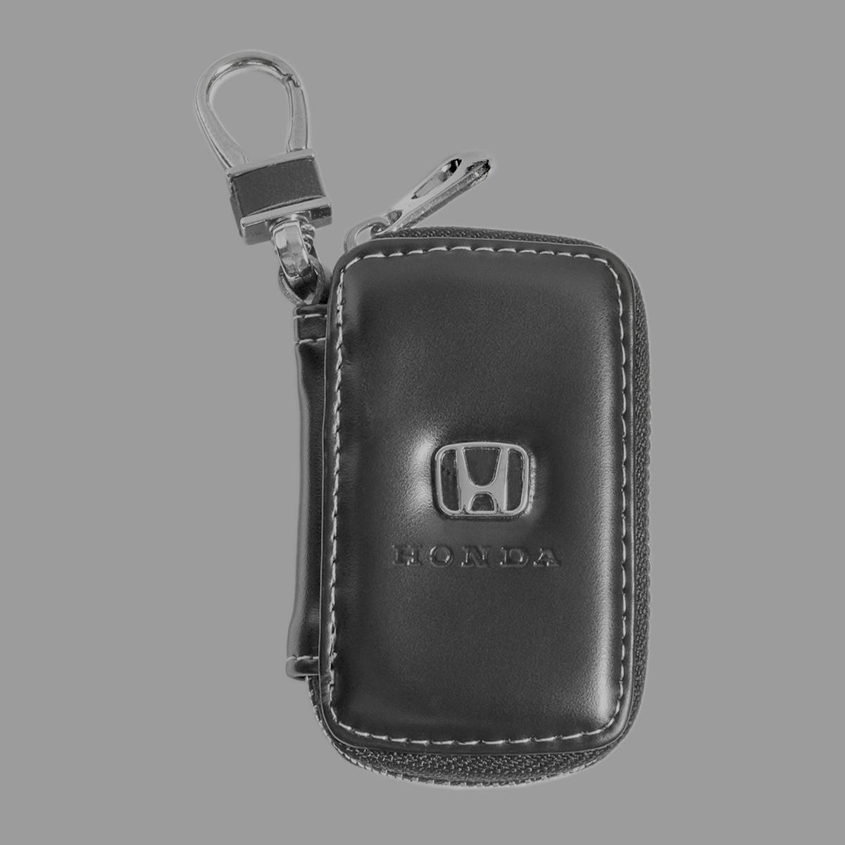 Ключница Carss с логотипом HONDA 08011 черная
