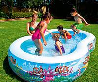 Детский надувной бассейн Bestway 54118 (бествей) Подводный мир, 262х157х46 см, 544 л