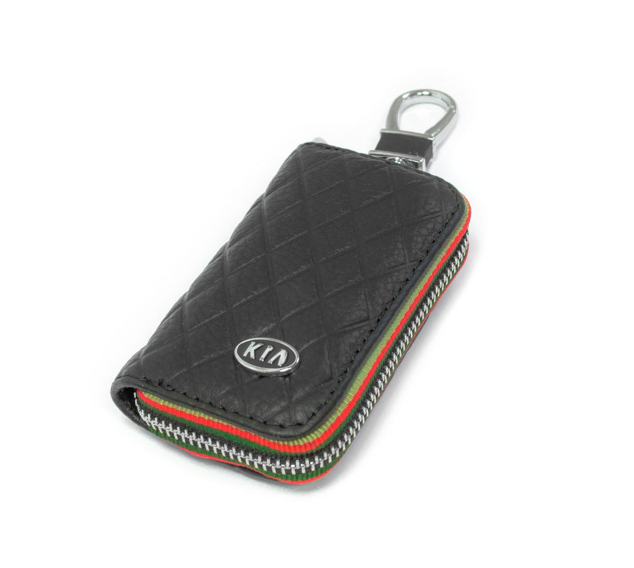 Ключница Carss с логотипом KIA 05009 черная