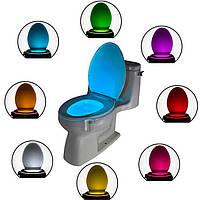 Подсветка для унитаза lightbowl, Подсветка для унитаза LED LightBowl 8 цветов с датчиком движения, TOILET Led