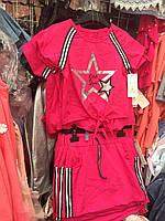 """Комплект детский -стильная футболка с принтом """"Звезда"""" и юбка для девочки.только опт"""