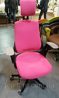 Крісло офісне, комп'ютерне WAU MAGENTA FABRIC, малинове