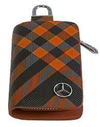 Ключница Carss с логотипом MERCEDES 02014 карбон коричневый