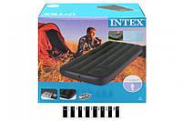 Надувной матрас Intex 66950 с насосом (193-76-22 см) интекс