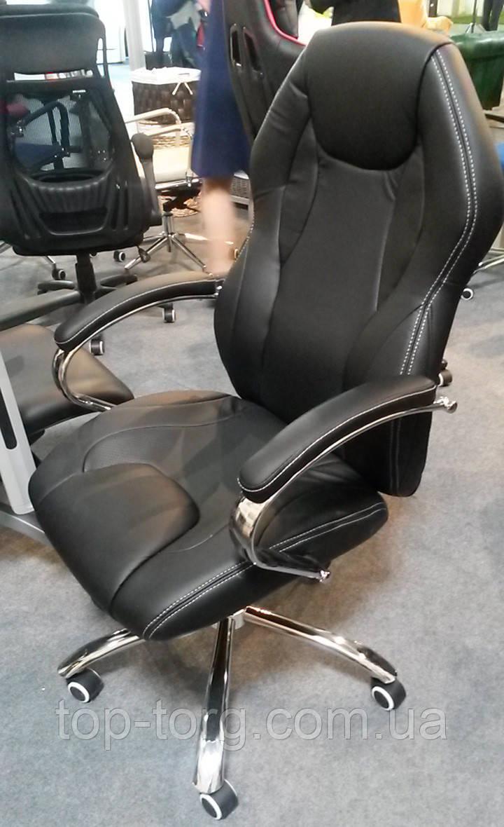 Кресло офисное, компьютерное Cross black, черное