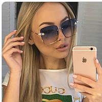Gucci женские солнцезащитные очки  Гуччи цвет голубой, фото 1