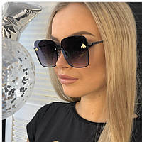 Gucci женские солнцезащитные очки Гуччи цвет чёрный, фото 1