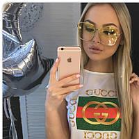 Gucci женские солнцезащитные очки 2018 Гуччи цвет жёлтый