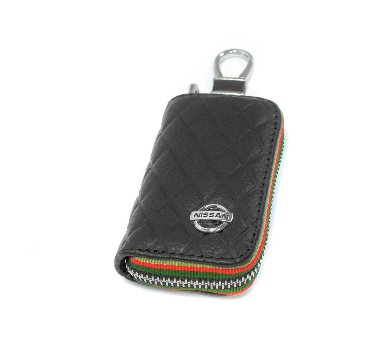 Ключница Carss с логотипом NISSAN 09009 черная