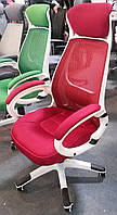 Кресло офисное, компьютерное Briz red, красное