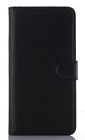Кожаный чехол-книжка для  Motorola moto G2 (5'') XT1068 XT1069 черный