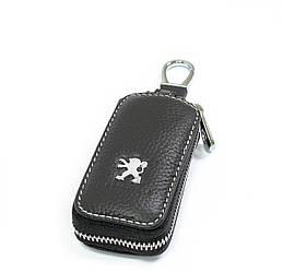Ключница Carss с логотипом PEUGEOT 19010 черная