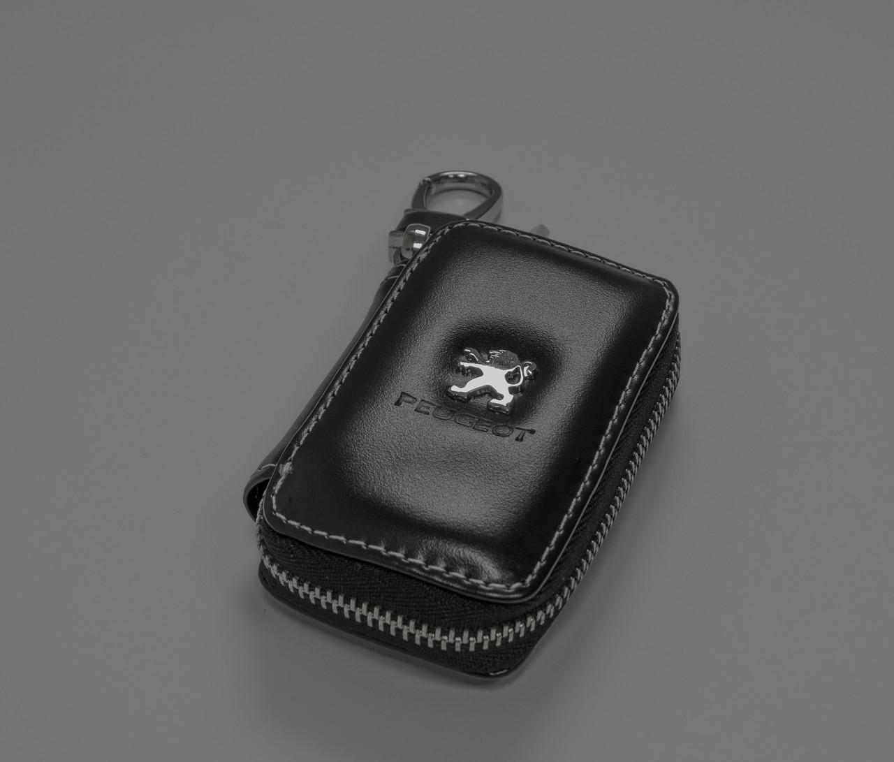 Ключница Carss с логотипом PEUGEOT 19011 черная