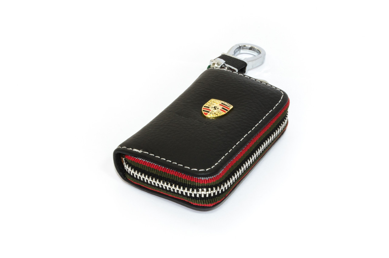 Ключница Carss с логотипом PORSCHE 06006 черная