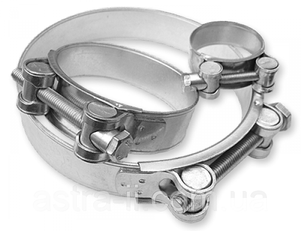 Хомут силовой одноболтовый RGBS W1 122-130/24 мм, RGBS126/ 24
