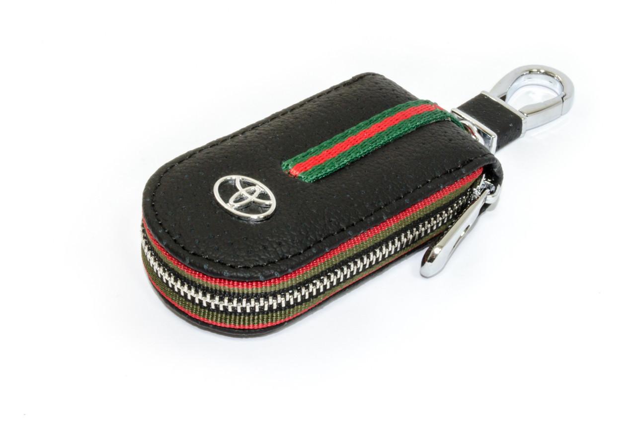 Ключница Carss с логотипом TOYOTA 07007 черная