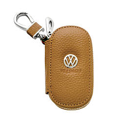 Ключница Carss с логотипом WOLKSVAGEN 04001 коричневая