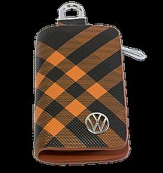 Ключница Carss с логотипом VOLKSWAGEN 04014 карбон коричневый