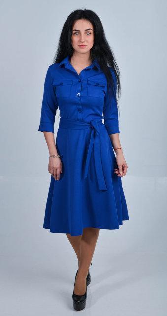 Элегантное платье миди из костюмного крепа.  Размер 42,44