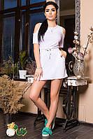 Женское короткое платье из вискозы