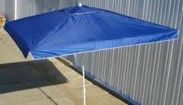 Зонт торговый 3x3м с серебряным напылением и клапаном