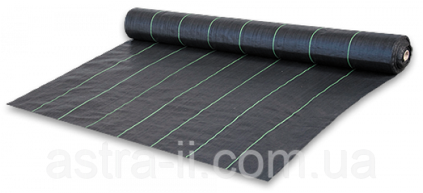 Агроткань против сорняков PP, черная UV, 70 гр/м? размер 1,1 х 100м, AT7011100