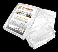 Тент (тарпаулин) водонепроницаемый WHITE 90 гр/м? размер 6 х 10м, PLW906/10