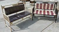 """Кованый диван """"РЕТРО"""",мягкая спинка и сиденье (120x50)"""