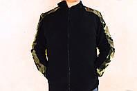 Мужская кофта,т олстовка на флиса черная 50-52-54-56