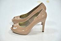 Nero Giardini туфли с открытым носком бежевыей12 к. 521