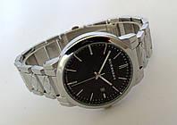 Часы унисекс Burberry - серебристые с черным циферблатом
