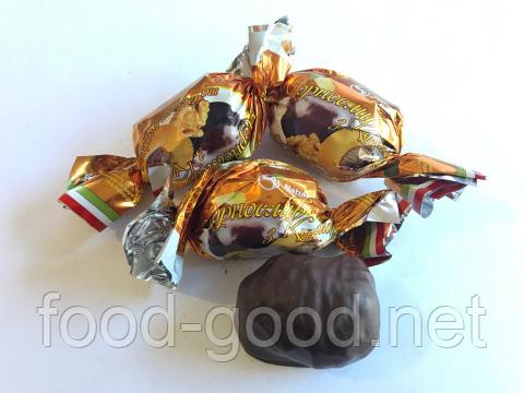 Курага с черносливом и грецким орехом в шоколаде, 1кг