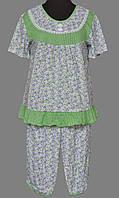 Футболка и бриджи пижама женская хлопковая Украина