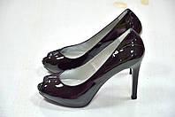 Nero Giardini туфли с открытым носком черные к. 521
