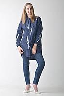 Женская брендовая рубашка Balenciaga синяя