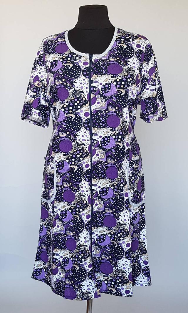 71f7528d3c726 Женский летний халат в цветочный принт с коротким рукавом : продажа ...