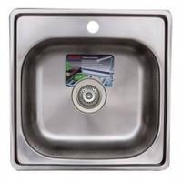 Врезная мойка для кухни TRION 4848 satin 0.7 mm