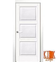 Межкомнатные двери Нордика 146  ПГ  (белая эмаль)
