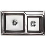 Подвійна накладна мийка TRION 7842 Подвійна Гладка Приварная 0.8 mm