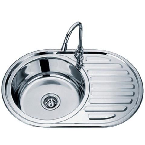 Накладні мийки з нержавіючої сталі врізна TRION 7750 Гладка 0.8 mm