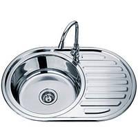 Накладні мийки з нержавіючої сталі врізна TRION 7750 Гладка 0.8 mm, фото 1